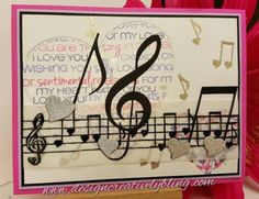 Deana made this gorgeous card using the Love Notes stamp set and the Love Note, Double Note and Treble Clef Fri-dies