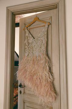 20s inspired short wedding dress