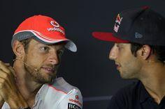 Jenson Button Vodafone McLaren Mercedes Daniel Ricciardo Scuderia Torro Rosso