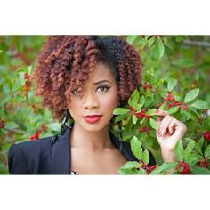 Twist out. To learn how to grow your hair longer click here - http://blackhair.cc/1jSY2ux