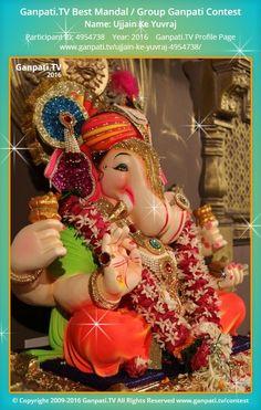 Ujjain Ke Yuvraj Home Ganpati 2016 Decoration Pictures, Decorating With Pictures, Ganpati Picture, Ganpati Festival, Festival Decorations, Picture Video, Captain Hat, Tv, Television Set