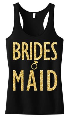 BRIDESMAID GLITTER #Wedding #Tank Top Pink -- By #NobullWomanApparel, for only $24.99! Click here to buy http://nobullwoman-apparel.com/collections/wedding-bridal-shirts/products/bridesmaid-gold-glitter-tank-top-black