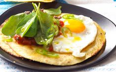 A simple Savoury pancakes with fried eggs recipe for you to cook a great meal for family or friends. Buy the ingredients for our Savoury pancakes with fried eggs recipe from Tesco today. Chorizo Recipes, Egg Recipes, Dinner Recipes, Savoury Pancake Recipe, Savory Pancakes, Midweek Meals, Easy Meals, Tesco Real Food, Crepe Cake