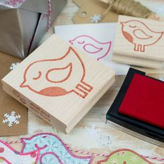 Winter Robin Rubber Stamp