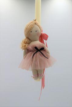χειροποίητη πασχαλινή λαμπάδα κούκλα ροζ, annassecret, Χειροποιητες μπομπονιερες γαμου, Χειροποιητες μπομπονιερες βαπτισης