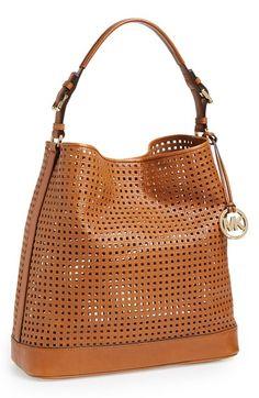 MICHAEL Michael Kors 'Large Bridget' Cutout Leather Shoulder Bag available at #Nordstrom