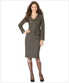 Aliexpress.comの から の中の女性アパレル婦人服テーラーダブルブレストスーツロングスリーブノッチ襟のジャケット・肖像画703ペンシルスカート