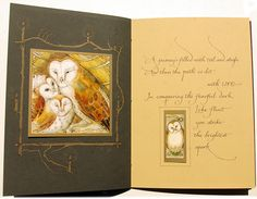 Charles Van Sandwyk book, 22 pages, Full Moon Eyes An Ode To The Wisdom And Forbearance Of Owls