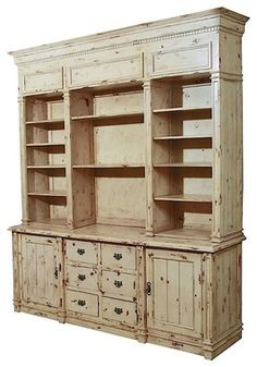 Furniture Classics Antique White Apothecary Cabinet - contemporary - bookcases cabinets and computer armoires - Pure Home