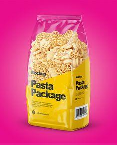 Ruote Pasta Mockup – Half Side View