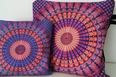 My DIY coin purse and makeup bag! I printed that mandala shape using sublimation technique.