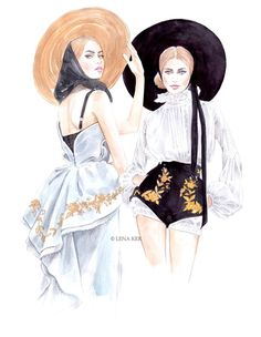 I love these #fashion illustration by blogger Lena Ker.