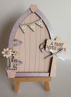 Magical Hand Painted Pink & Lilac Fairy Door