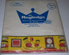NOS Vintage Royledge Shelf Lining Paper & Edging - 15 Ft on Etsy, $6.00
