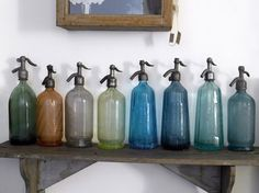 wonderful old seltzer bottles... any bottles are gr8 but these are on another level