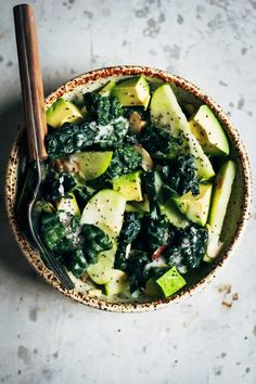 Kale and Apple Salad With Creamy Coconut Yogurt Dressing