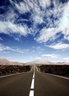 Droga+po+horyzont+-+fototapeta