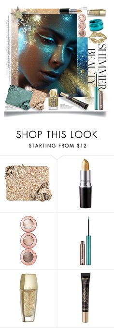 """Shimmer Beauty; Sparkle Like Magic"" by blondemommy ❤ liked on Polyvore featuring beauty, Too Faced Cosmetics, Urban Decay and Guerlain"
