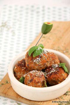 Italiaanse gehaktballetjes - let op uw dieet, Tapas, I Love Food, Good Food, Yummy Food, Dutch Recipes, Italian Recipes, Low Carb Brasil, Food Platters, High Tea