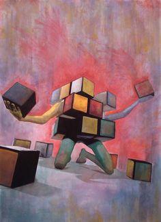 Schizoid Rubik's Cube by Timothy Arment