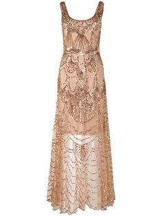 Phase Eight Cinderella rose gold beaded dress  |  pinterest: @Blancazh