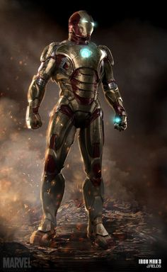 """Iron Man - Mark 42: """"And the prodigal son returns."""" *armor crashes* """"...whatever."""" <3"""
