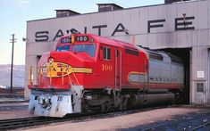 ATSF #100 (EMD FP45) enjoys a moment's repose at the Barstow Yard Engine Facility in the Early 1970's. Photographer currently unknown.