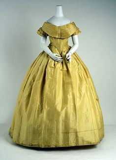 Dress  Date: mid-19th century Culture: American Medium: silk
