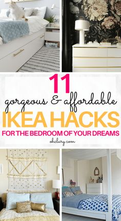 Are you in need of some bedroom ideas? These DIY IKEA bedroom hacks will create . - Are you in need of some bedroom ideas? These DIY IKEA bedroom hacks will create the room of your dr - Bedroom Ideas For Small Rooms Diy, Small Room Bedroom, Trendy Bedroom, Small Bedrooms, Girl Bedrooms, Bedroom Bed, Comfy Bedroom, Attic Bedrooms, Master Bedroom