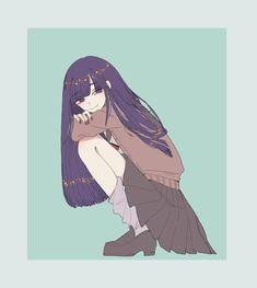 Kawaii Anime Girl, Anime Art Girl, Manga Art, Manga Anime, Anime Girls, Sad Anime, Anime Demon, Poses Anime, Beautiful Anime Girl