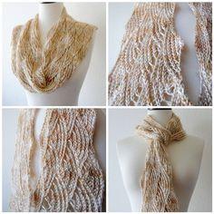 Artyarns Silk Rhapsody Glitter scarf