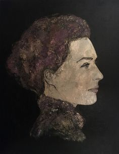 """ PRECIOUS "" #figuratief#dark#contemporatyportrait#purple#portret#art"