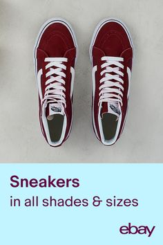 Updating your fall wardrobe with a new color palette? Step over to eBay and shop latest sneakers.