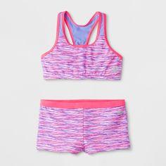 12520c0320 Rbx Girls' Spacedye Bikini Set - S, Multicolored