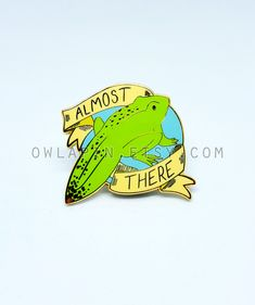"Frog Tadpole Metamorphosis 1.5"" Enamel Pin by owlapin on Etsy https://www.etsy.com/listing/607849025/frog-tadpole-metamorphosis-15-enamel-pin"