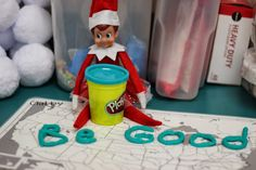 Kindergarten Smiles: Elf on Shelf: In the Classroom {Week 2}
