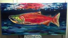 Image result for salmon art