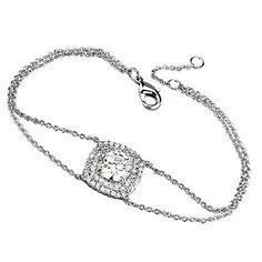 Pampered Round Cut Double Chain Bracelet - a sterling silver bracelet