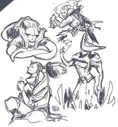 Yasuo, thresh, Lisandra, Vel'Koz Art