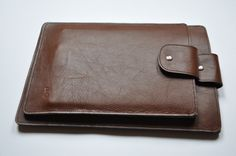 """Hand made leather sleeves for iPad & MacBook 13"""" together. Check the price on www.plugstore.pl"""