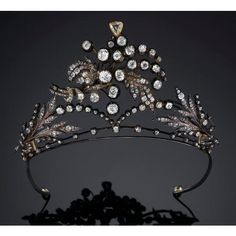 Diamond spray Tiara, Unknown provenance