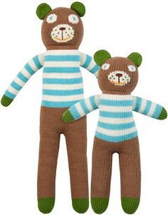 Knit Dolls by BlaBla in brown and urban blue #ColorfulFall #PinParty