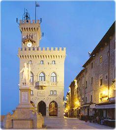 Piazza della Liberta in San Marino, Italy