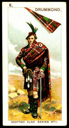 ~Mitchell's Cigarettes (Glasgow) - Scottish Clan Series - 1903. No8 Drummond | The House of Beccaria~