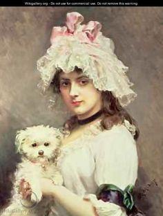 Girl with a Lap Dog - Federico de Madrazo y Kuntz