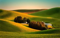 Обои картинки фото вид, поле, дом, ферма, природа