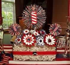WOW!!  (Busy with the Cricky: Patriotic Centerpiece for July 4th)