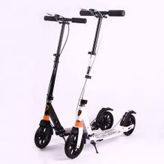 [ $57 OFF ] Upgraded Adult Foldable Kick Scooter Bike Double Shock 8 Inch Big Wheel Aluminum Alloy Foot Scooter Handbrake Urban Scooter