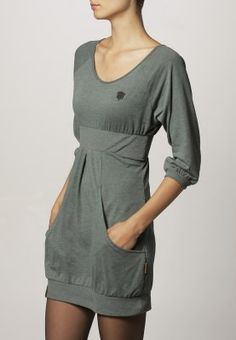Naketano - SCHMITZ - Jersey dress - green; cute to pair with opaque tights and boots