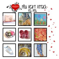 """""""It's a Heart Attack"""" by cindyanne-mroz-hernandez ❤ liked on Polyvore featuring interior, interiors, interior design, home, home decor, interior decorating, handmade, etsyfru and FRUHeartAttack"""